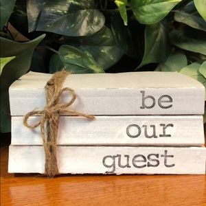 3 farmhouse inspired books stamped be our guest